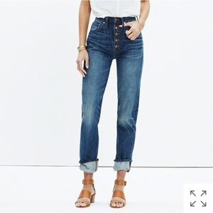 Madewell Rivet & Thread Button-Front Boyjean